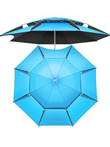 GE&YOBBY Beach Umbrella Patio Umbrella Uv 50+ Yard Umbrella,Table Umbrella with 8 Sturdy Ribs,Tilt Aluminum Pole Outdoor Umbrella,for Garden Backyard Camping