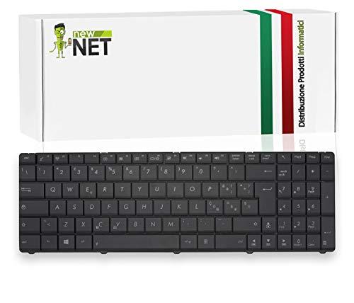 New Net Keyboards - Teclado italiano para portátil Asus B53 B53E B53F B53J B53S F55V F55A F55C F55VD N53JF N53JG N53JN N53SV N73JF N73JG N73JN N73JQ N73SV P53SJ
