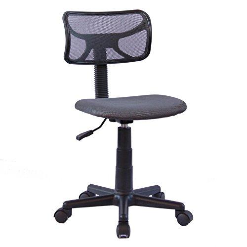 IDIMEX Chaise de Bureau pour Enfant Milan Fauteuil pivotant et Ergonomique sans accoudoirs, siège à roulettes avec Hauteur réglable, revêtement Mesh Gris