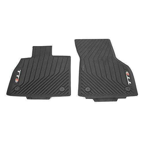 Audi 8S0061221041 Gummi Fußmatten 2X Gummimatten vorn Allwettermatten, mit TTS Schriftzug, schwarz