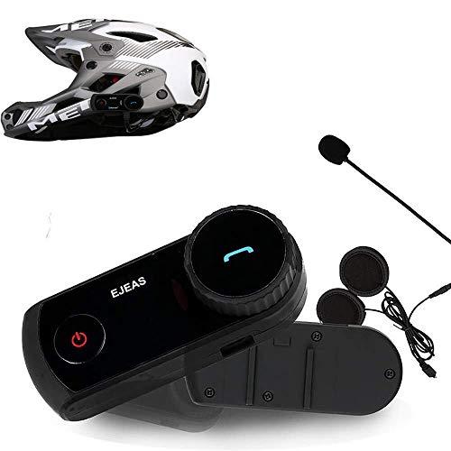 SPRIS Interfono Bluetooth for Casco da Motociclista, 1300M Interfono Wireless Full Duplex for Moto Intercom Impermeabile for Interfono Bluetooth BT