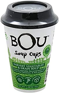 BOU Soup Cups - Harvest Vegetables & Grain, 1.58 oz (Pack of 6) Best By Date 8/30/2019