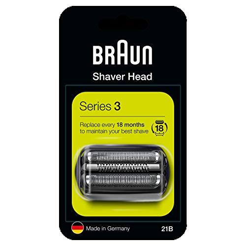 Braun Series 3 21B Cabezal de Recambio Negro para Afeitadora Eléctrica Hombre, Compatible con las Afeitadoras Series 3