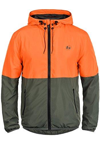 Blend Athletics Minato Herren Jacke Sportjacke Trainingsjacke aus hochwertiger Materialqualität, Größe:S, Farbe:Orange Clown (72837)
