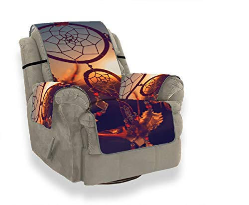 JEOLVP Indian Talisman Native Dreamcather Sofa Spandex Covers Tewene Couch Cover Sofa Cover Slipcover Chaise Lounge Chair Furniture Protector For Pets, Kids, Cats, Sofa