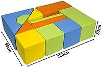 Velinda Completo 11 grandi mattoni,blocchi,cubi in schiuma gioco bambino, scuola materna (colore: giallo,verde,arancione,blu chiaro) #4