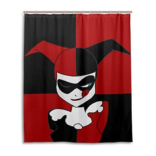 41YI8papTqL Harley Quinn Shower Curtains