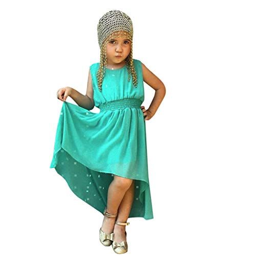 Longra Bambin baby meisjes mouwloze jurk, kleding, robuust, zomer, party, prinses, jurk voor lentejurk, avondjurk, ronde hals, Bohemian Maxi-jurk, kort, mini-jurk