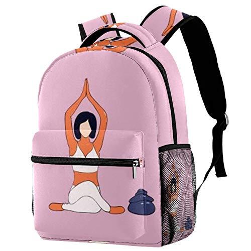 Niedlicher leichter Rucksack mit großer Kapazität, für Yoga, zum Sitzen und Heben der Hände, Schultasche für...