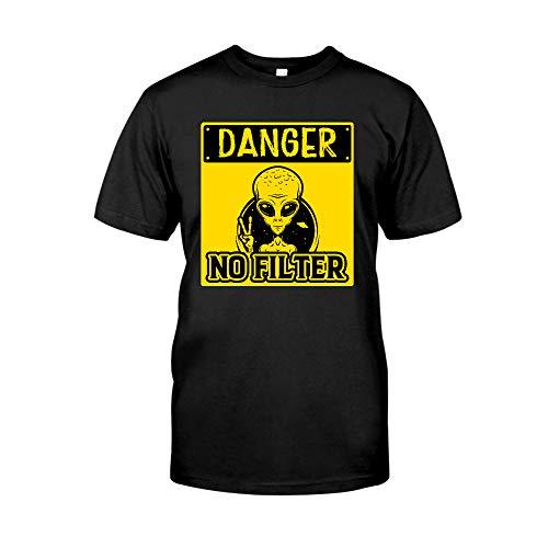 Danger No Filter Alien Peace 3 T-Shirt