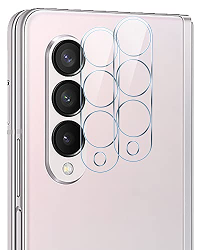 GIOPUEY Kamera Schutzfolie Kompatibel mit Samsung Galaxy Z Fold 3, [2 Stück] 3D Panzerglas [Kratzfest][Beeinträchtigt die Bildgebung Nicht] Kamera Panzerglas für Samsung Galaxy Z Fold 3
