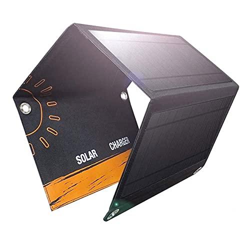 Fhdisfnsk Paneles Plegables Cargador Solar Banco de energía al Aire Libre 21W Carga rápida Cargador de energía Solar Impermeable para teléfonos Inteligentes Tabletas