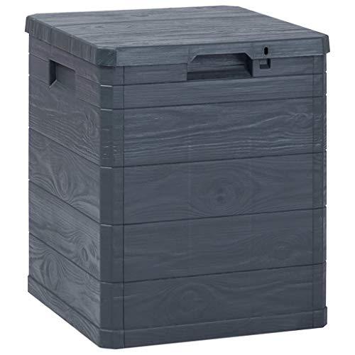 Festnight Garten-Aufbewahrungsbox | Abschließbar Gartenbox | Gartentruhe | Garten Aufbewahrungstruhe | Anthrazit Kunststoff 42,5 x 44 x 50 cm 90 L