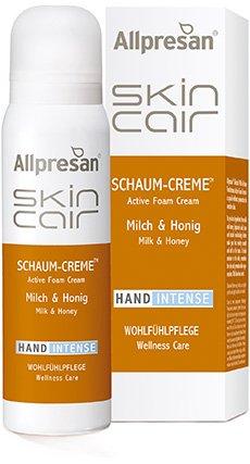 Allpresan SkinCair Milch Honig HAND Intense Schaum Creme Wohlfühlpflege mit mit sanften Natur-Wirkstoffen für die Hände, 100 ml