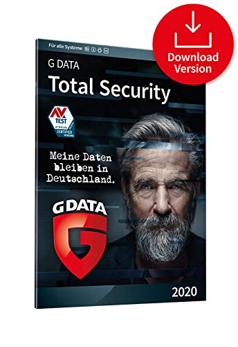 G DATA Total Security 2020, 3 Geräte - 1 Jahr, Download / E-Mail Code, Für PC, Mac, Android, iOS, Made in Germany