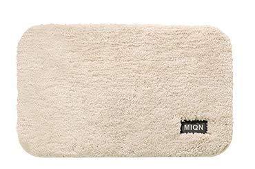 Alfombra de la habitación Microfibra suave absorbente antideslizante Mat Baño Sala de estar mullida alfombra mullida 40cm * 60cm blanca