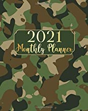 2021 Monthly Planner: Camouflage Cover One Year 12 Months Calendar Agenda With Notes January 2021 to December 2021 Schedul...