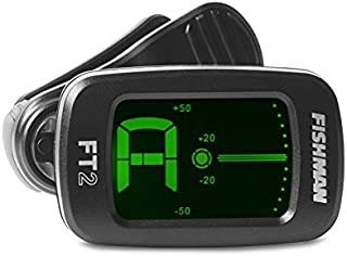 Fishman FT-2 Digital Chromatic Clip-On Tuner for Acoustic Guitar, Electric Guitar, Bass, Ukulele, Banjo, Mandolin, Violin, Cello, Viola, and Mandola