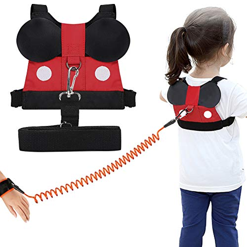 Accmor Toddler Leash Harness Baby Safety Harness Leash Child Anti Lost Wrist Link Cute Kid Safety Walking Assistant Strap Tether for 1-5 Years Boys and Girls to Zoo or Mall