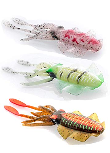 5PCS Squid Light-up Fishing Lure Octopus Skirts Lures Tackle Glow Luminous Bait