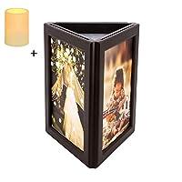 📷Conception unique: aspect triangulaire unique, le jeu de cadres est livré avec un cadre photo en 3 pièces de la même taille, un cadre de décoration idéal pour une image 12.2cm x 18.8cm. Remarque: veuillez retirer le film de PVC 📷Naturellement la lum...
