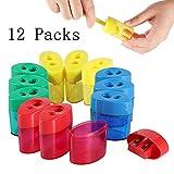 Best Pencil Sharpeners - KIDMEN 2 Holes Pencil Sharpener,Pencil Sharpener for Kids,Pencil Review