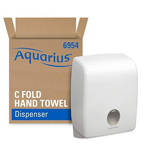 Aquarius 6954 Dispensador de Toallas Secamanos Plegadas en C, Blanco