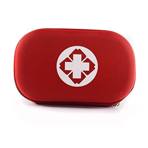 nbvmngjhjlkjlUK Erste-Hilfe-Tasche, tragbare Mini-Aufbewahrungstasche Outdoor-Reise Erste-Hilfe-Set Medizintasche Kleine medizinische Box Notfall-Überlebenstablettenetui (rot
