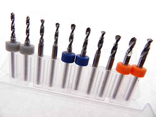 Modeling 10 pack 1.1mm to 2.0mm Tungsten Micro Drill Bits Multi-use Installation Toy Making Crafts Miniatures more..