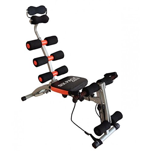 Inditradition 6 Pack Ab Exerciser, Full Body Workout Machine (Black)