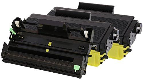 TONER EXPERTE® 2 Toner mit Trommel kompatibel zu Brother TN3280 & DR3200 für DCP-8070D DCP-8085DN HL-5340D HL-5340DL HL-5350DN HL-5370DW HL-5380DN MFC-8370DN MFC-8380DN MFC-8880DN MFC-8890DW