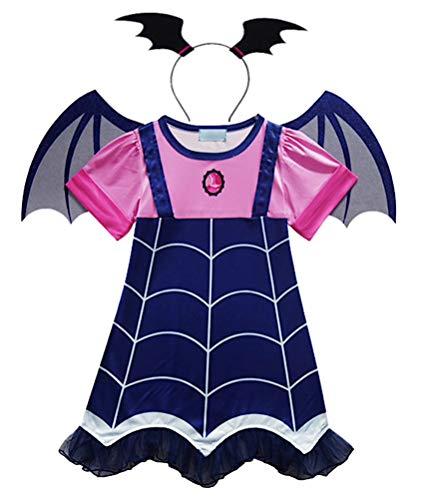 VersusModa Simile Vampirina Vestito Carnevale Bambina Cosplay Costume Little Vampire Dress VAMPG01 (130)