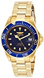 Invicta Men's Pro Diver 40mm Gold Tone Stainless Steel Automatic Watch, Gold/Blue (Model: 8930)