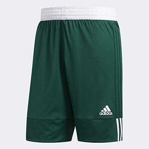 adidas 3G SPEE Rev SHR, Pantaloncini Sportivi Uomo, Dark Green/White, S