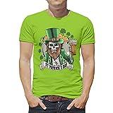 Wmeyiseyiy Camiseta clásica de San Patricio con estampado de calavera para hombre