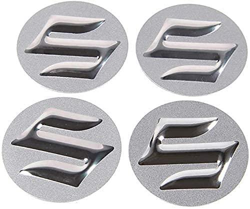Tapacubos de 4 Piezas 56mm para Suzuki Samurai SJ4 13 Grand Vitara SX4 S Cross Swift Jimny, La Tapas Centrales de Rueda de Alta Calidad Protegen el Buje de La Suciedad Accesorios de auto