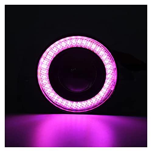 Linterna Ángel Ojos niebla luz Universal COB LED LED DRL Luz de conducción Lámpara de niebla 64mm 76mm 89mm 2.5'3' 3.5'12v 2pcs (Color Temperature : 3.5inch 89mm)