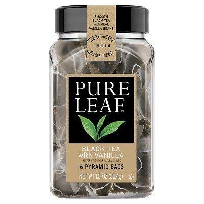 Pure Leaf Hot Tea Bags, Black Tea with Vanilla, 16 ct.