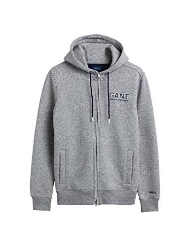 GANT Herren Sweatjacke Größe XXL Grau (grau)