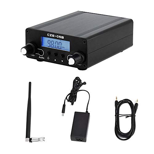 TOPQSC Transmisor FM 0.5 W Transmisión estéreo de con LCD digital inalámbrico 76~108MHz Transmisor FM Radio, mini estación estéreo de radio para la estación de radio de la iglesia Teatro del automóvil