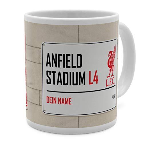 PhotoFancy Tasse Liverpool mit Namen personalisiert - Design Liverpool FC Street Sign