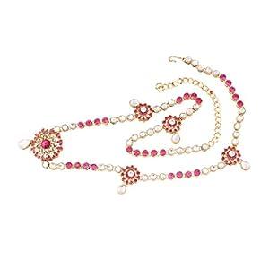 I Jewels Traditional Gold Plated Kundan & Stone Studded Kamarband for Women B012