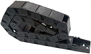 "WNJ-TOOL, 1 st 18x25mm 1M 100cm 40"" Semi Gesloten Binnen Opening Kunststof Drag Chain Kabel Drag Chain Draad Carrier Tanks..."