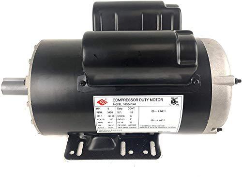 5 HP 3450 RPM 56 Frame 230V 22Amp 7/8' Shaft Single Phase NEMA Compressor Motor