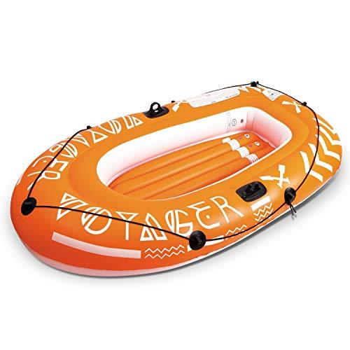 Mondo Toys- Barca Hinchable para Playa O Piscina Voyager 200, Multicolor (MD-16735)