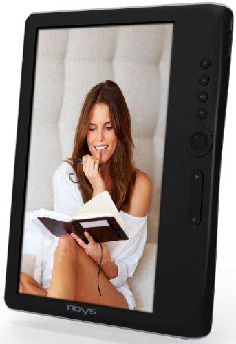 Odys Boox Media-Player (17,8 cm (7 Zoll) LED Farbdisplay, 4 GB Speicher, MicroSD-Slot, G-Sensor, E-Book Lesefunktion, inkl. 5 Bücher) schwarz