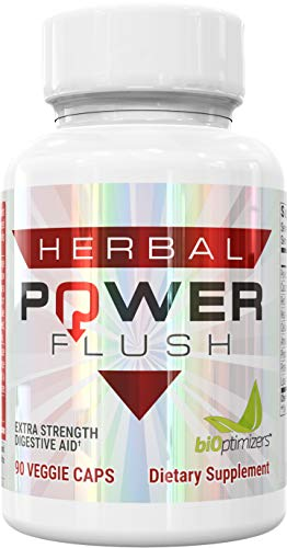 Herbal Power Flush - Extra Strength Digestive Cleanse - Eliminate Toxins - Improve Digestion - 90 Capsules