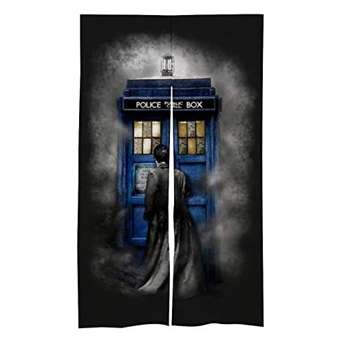Doctor-Who Bedroom Blackout Curtains -Energy Efficient Thermal Insulated Blackout Curtain Panels/Gate Drapes for Home Decor.