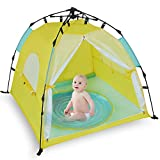 Bend River Automatic Instant Baby Tent with Pool, UPF 50+ Beach Sun Shelter, Portable Mosquito...