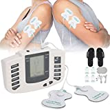 Brrnoo - Massaggiatore elettronico per pulsazioni, dispositivo di stimolazione muscolare EMS 3 in 1 Combo Dual Channles 36 modalità con elettrodi (EU)